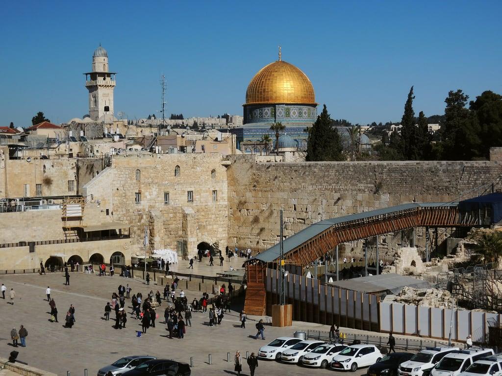 Изображение Стена Плача вблизи Old City. jerusalem holy city israel middleeast izrael