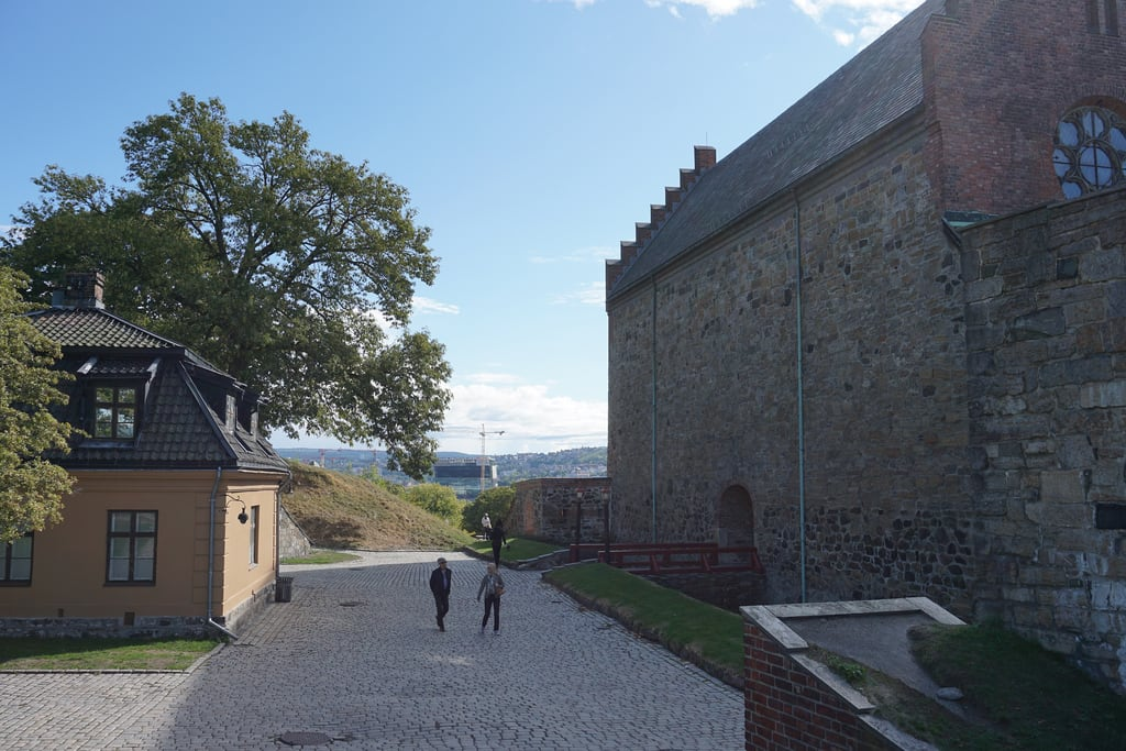 Image of Akershus fortress. oslo norway northern europe summer outdoors city buildings urban akershus fortress festning military