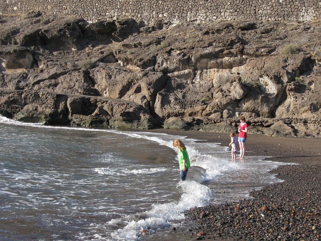 Playa El Pinque 60 Metre uzunluğunda plaj görüntü. tenerife canaryislands