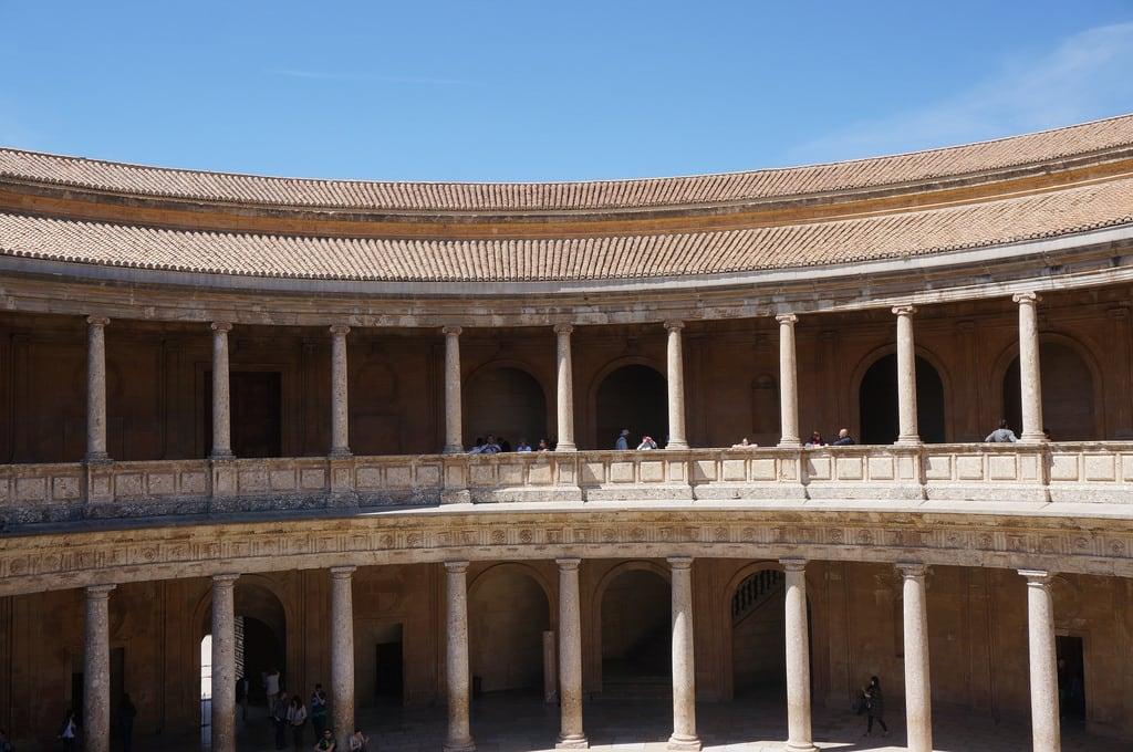 Billede af Palace of Charles V i nærheden af Granada. file:md5sum=7abcb39c83716047ae3e4ec4f607801d file:sha1sig=15c33ad896c57fe6bea10e00eb76a4dcb400d564 spain andalusia