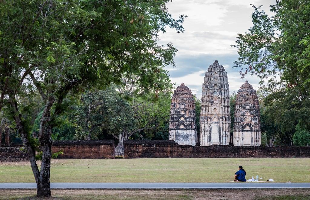 Image of Sukhothai Historical Park near Ban Na. sukhothaihistoricalpark wat temple sukhothai watsisawai watsrisawai
