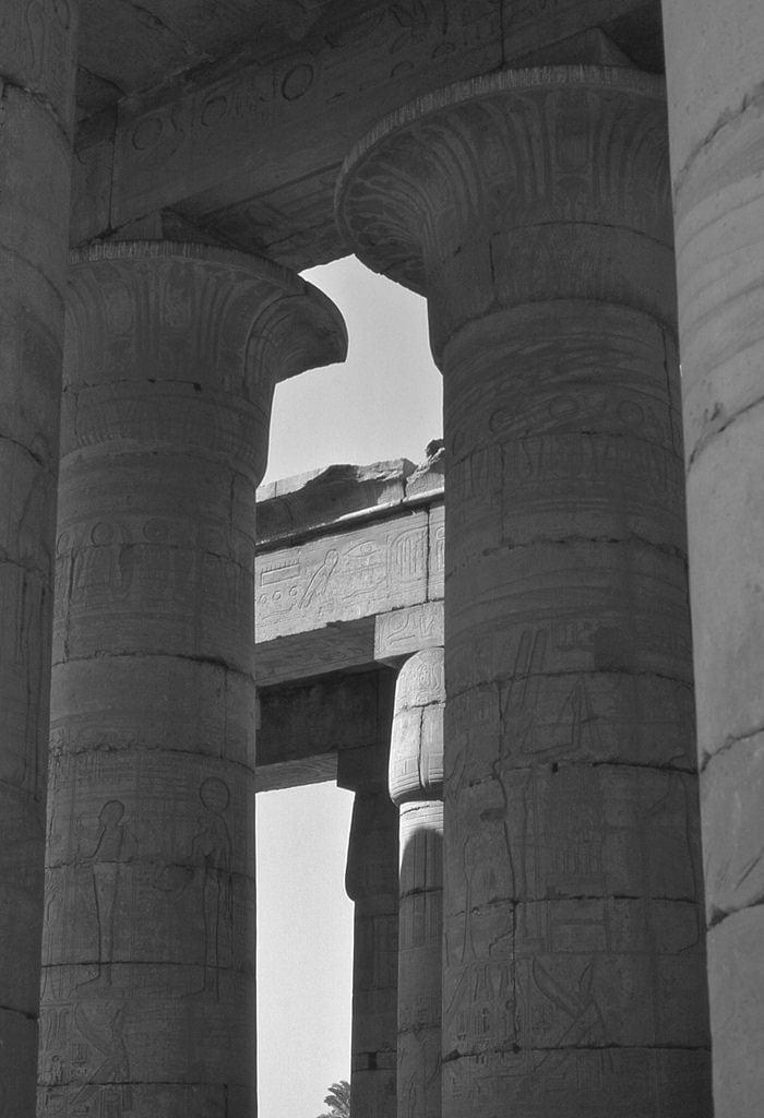 Image of Ramesseum. ramesseum luxor egypt hypostyle