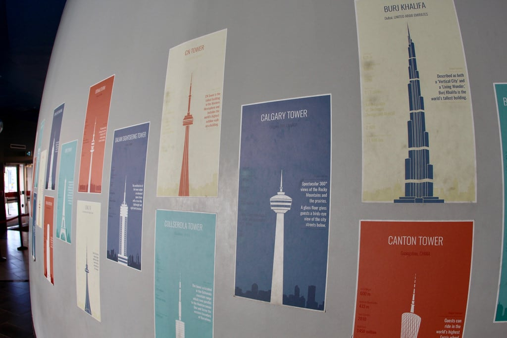 Calgary Tower の画像. attraction tower observation alberta canada information wall