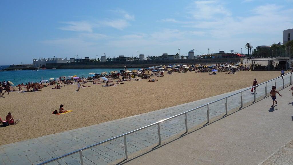 Image of Platja de la Nova Icària. barcelona beach catalonia catalunya platjadenovaicària