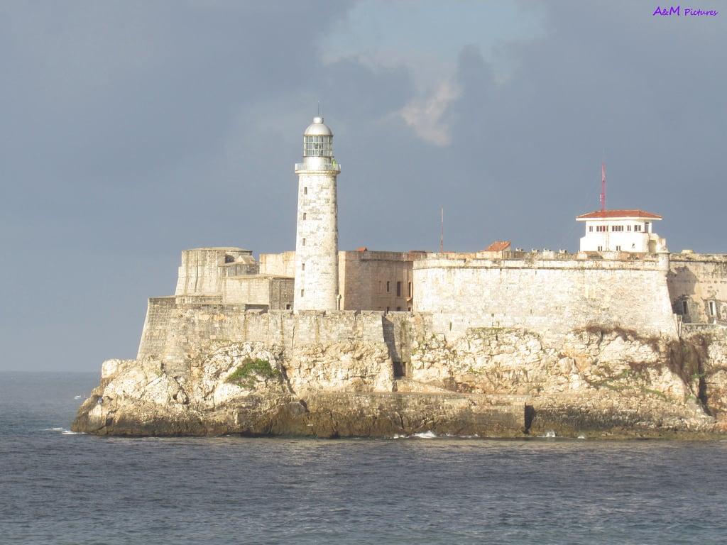 Image of Castillo de los Tres Reyes del Morro near Centro Habana. morrocastle morrodelahabana castillodelmorro habana havana