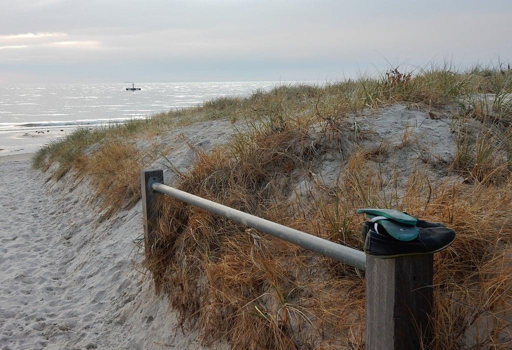 Image of Grange Beach near Grange. grange thongs post trust slippers dunes coast beach custom