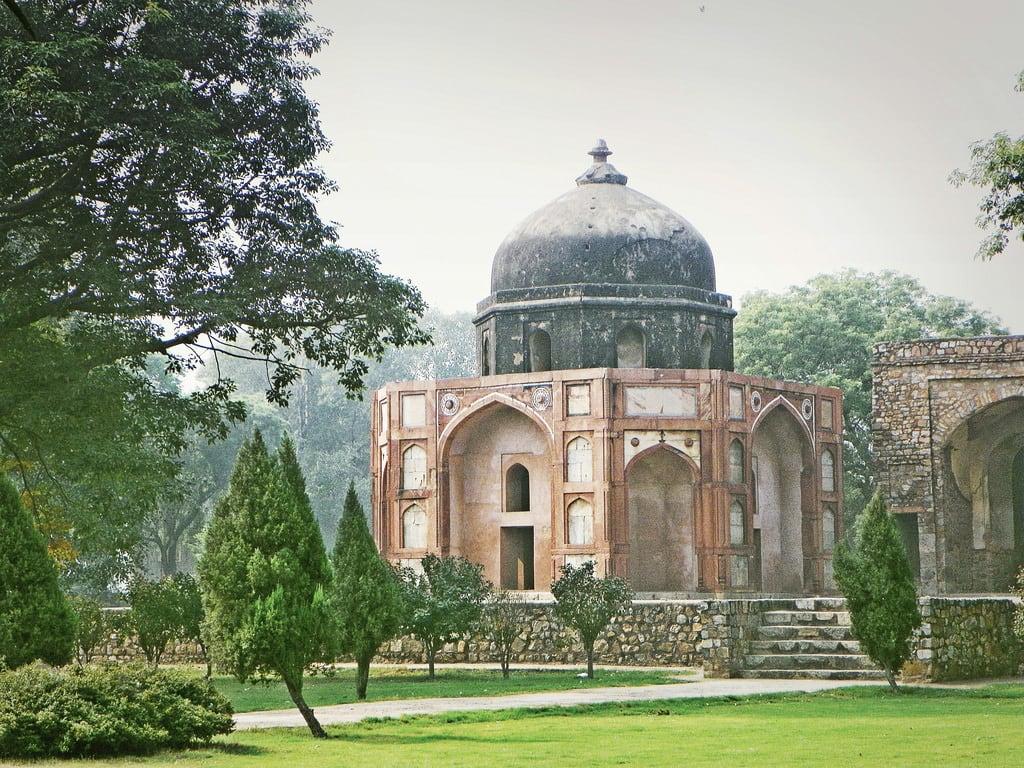 Изображение Humayun's Tomb Complex. 2015 india delhi building architecture religion ornament decoration tree
