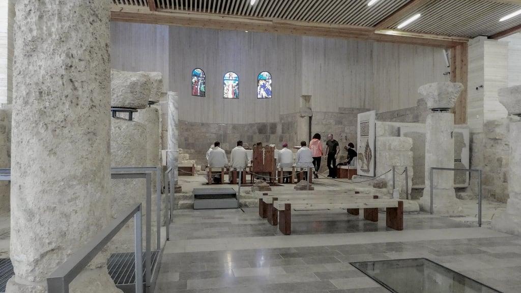 MOSES MEMORIAL CHURCH की छवि. neboberg jordanië المملكةالأردنيةالهاشمية jabalnibu jordan mountnebo جبلنيبو madaba madabagovernorate jo