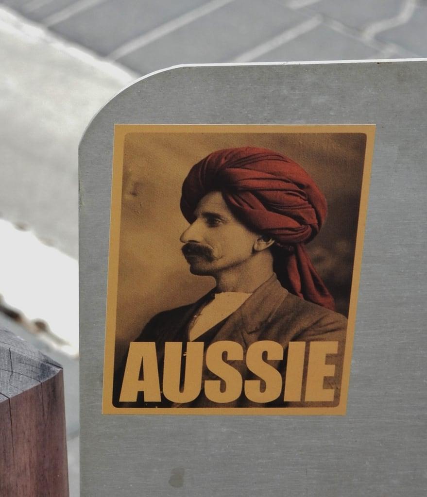 Image of Henley Beach near Henley Beach. henleybeach afghan poster turban campaign australian multicultural pioneers