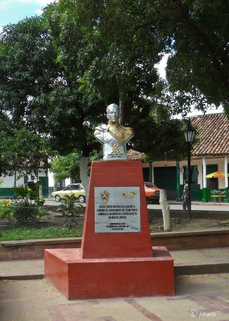 Image of Simón Bolívar. colombia tolima ambalema