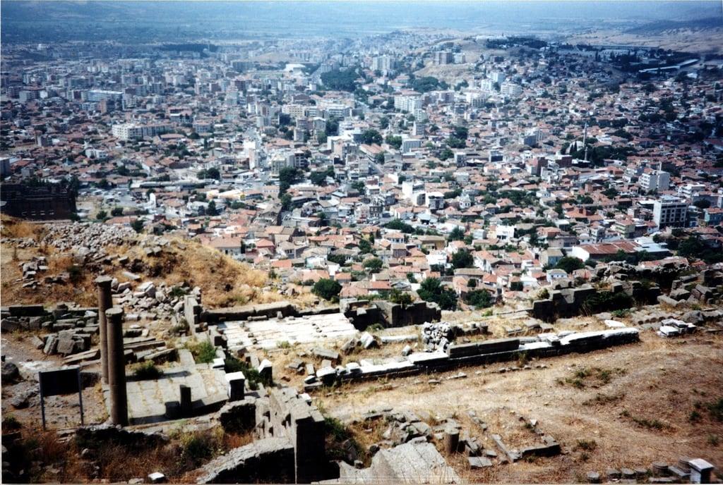 Image of Pergamon Acropolis. 2001 trip turkey geotagged greek columns entrance acropolis pergamon bergama geo:lat=3913212485782123 geo:lon=27184440828380616
