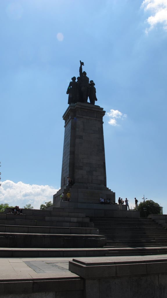 Image of Monument to the Soviet Army. sofia bulgaria софияград