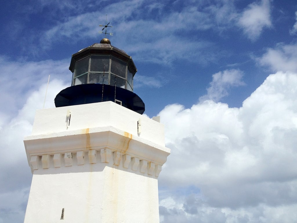 Image of Arecibo Lighthouse. sky lighthouse clouds puertorico aricebo