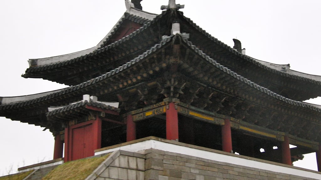 Image of Potong Gate. northkorea pyongyang 平壤 севернаякорея пхеньян بيونغيانغ pjöngjang 평양