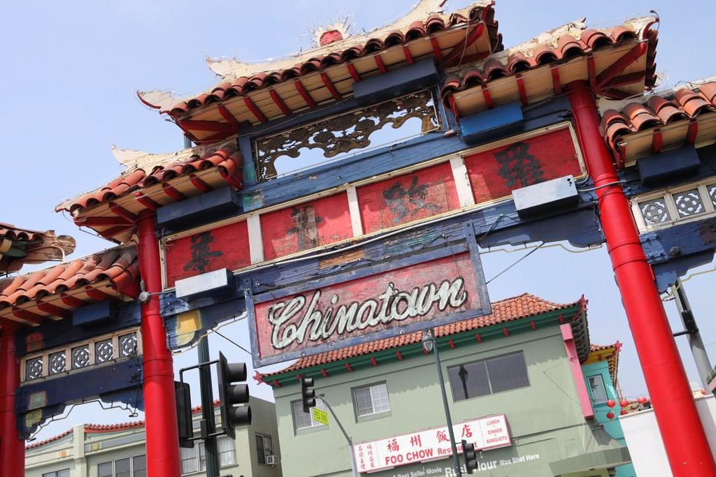 Изображение Chinatown Gateway. california losangeles chinatown chinese entrance gateway