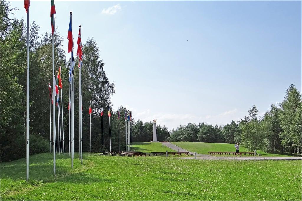 Image of Europos centras. lituanie europoscentras dalbera centredeleurope centregéographiquedeleurope