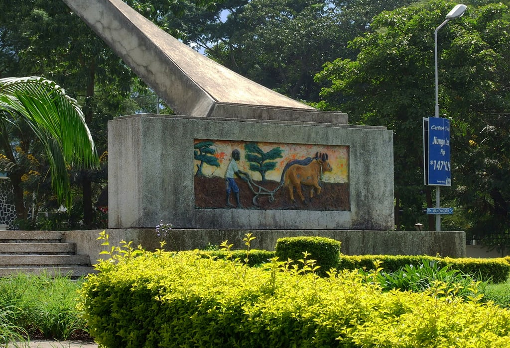 Image of Uhuru Monument. monument tanzania mural uhuru arusha