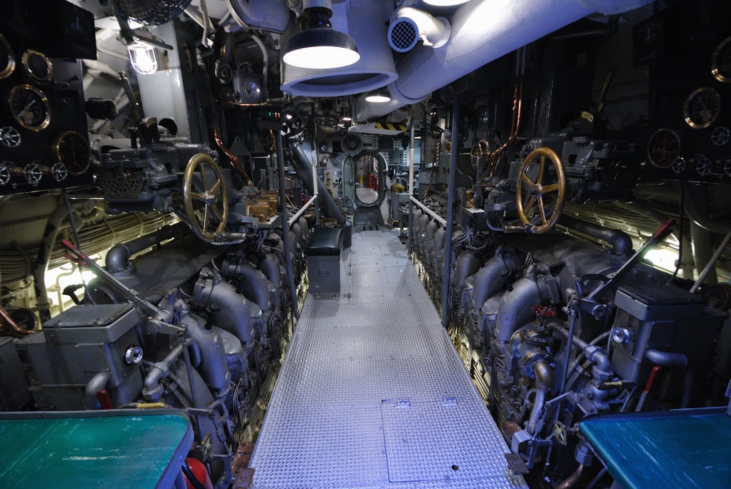 Bild av USS Bowfin nära 'Aiea. oahu submarine pearlharbor honolulu ussbowfin