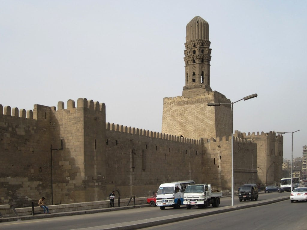Изображение на Cairo Northern City Wall близо до Кайро. africa egypt cairo