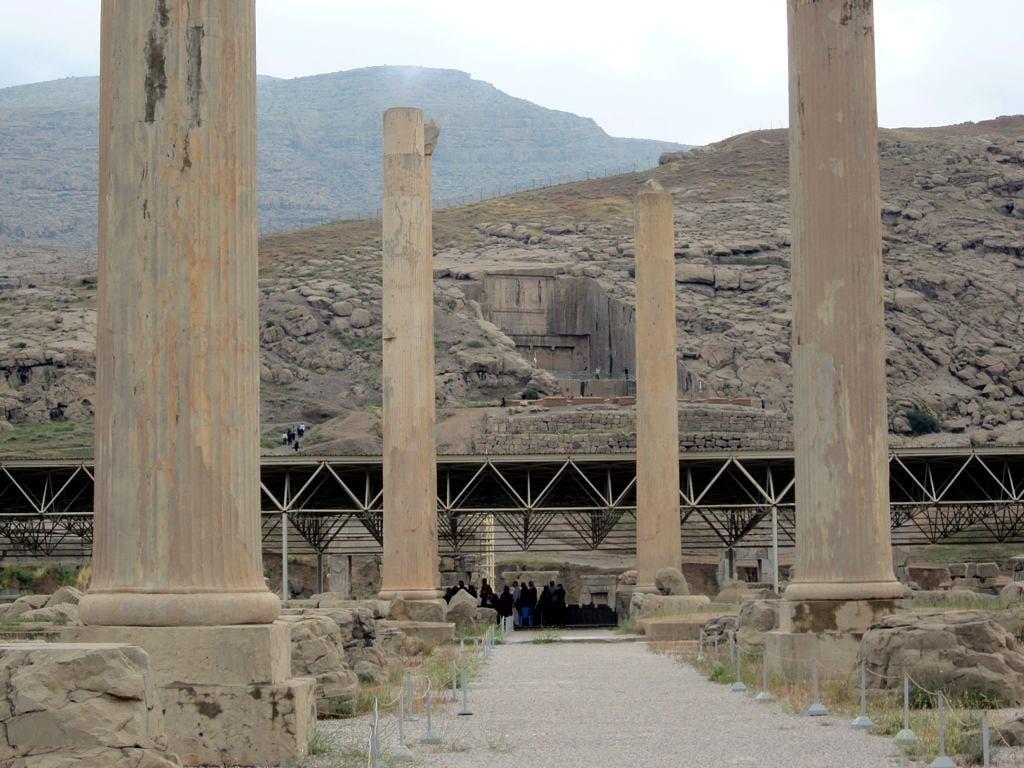 Image of Artaxerxes Tomb. iran persepolis