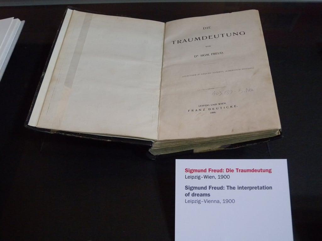 Image of Sigmund Freud. vienna wien buch book library bibliothek books freud sigmundfreud bücher nationalbibliothek prunksaal traumdeutung österreichischenationalbibliothek