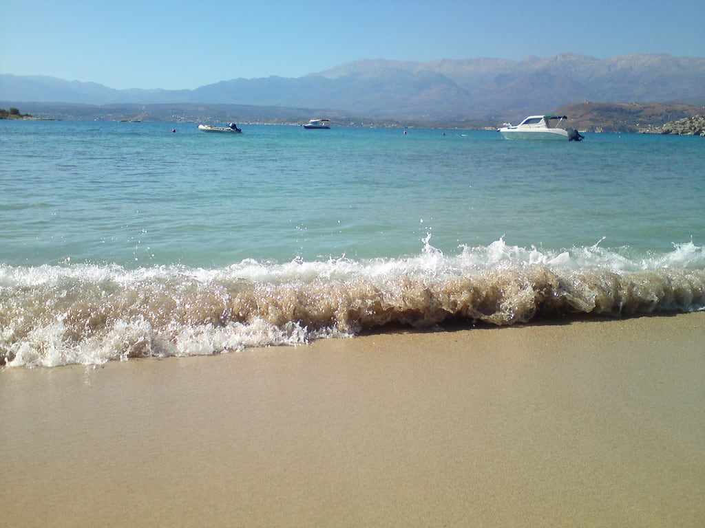 Bild von Marathi (Μαράθι) Strand mit einer Länge von 78 m. sea vacation beach mobile sand surf diary greece crete marathi море пляж песок отпуск крит прибой греция