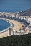 Zdjęcie:   Brazylia  Rio de Janeiro  Copacabana  (copacabana, widok z góry głowa cukru, rio de janeiro)